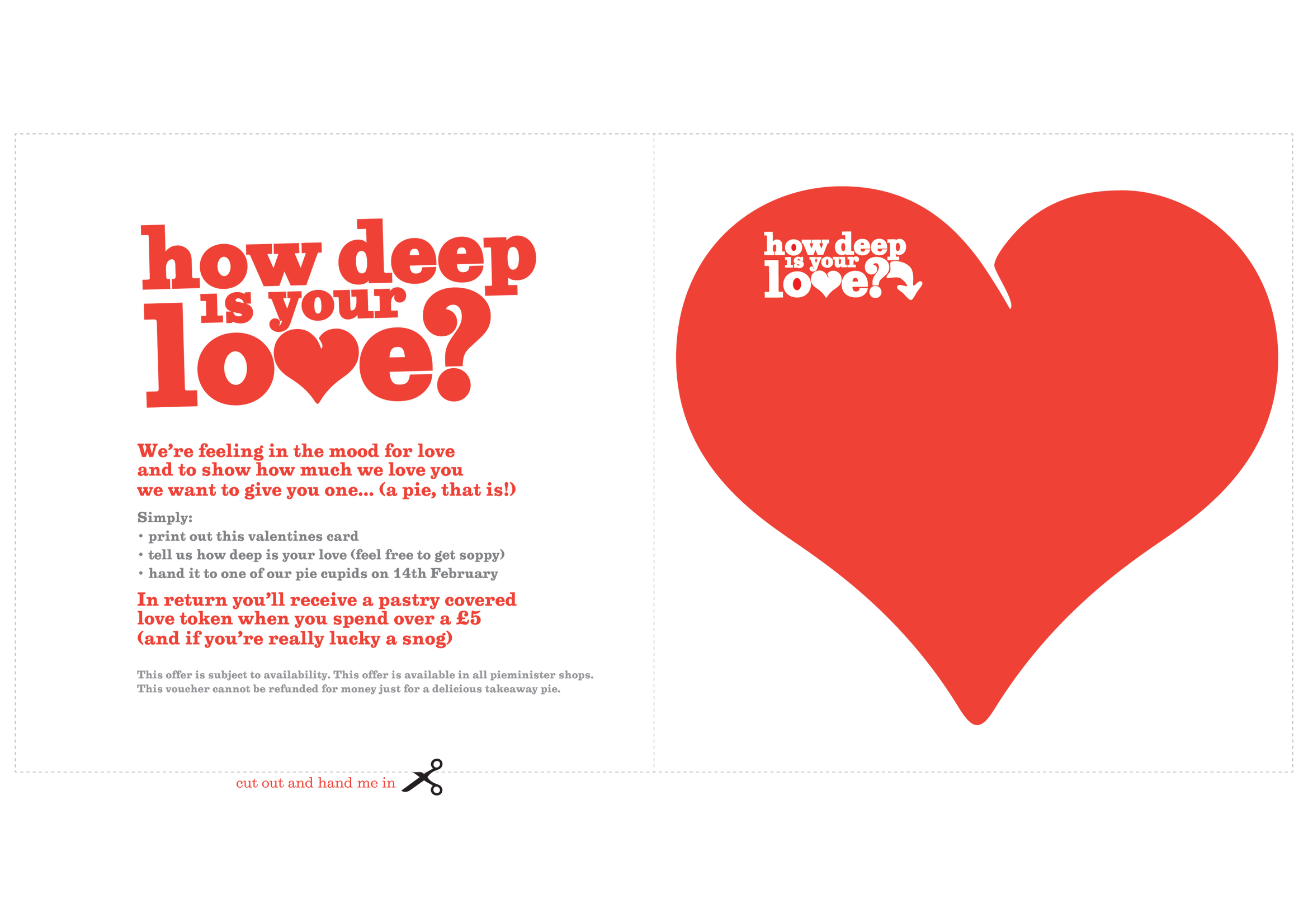 how deep is your love – Pieminister