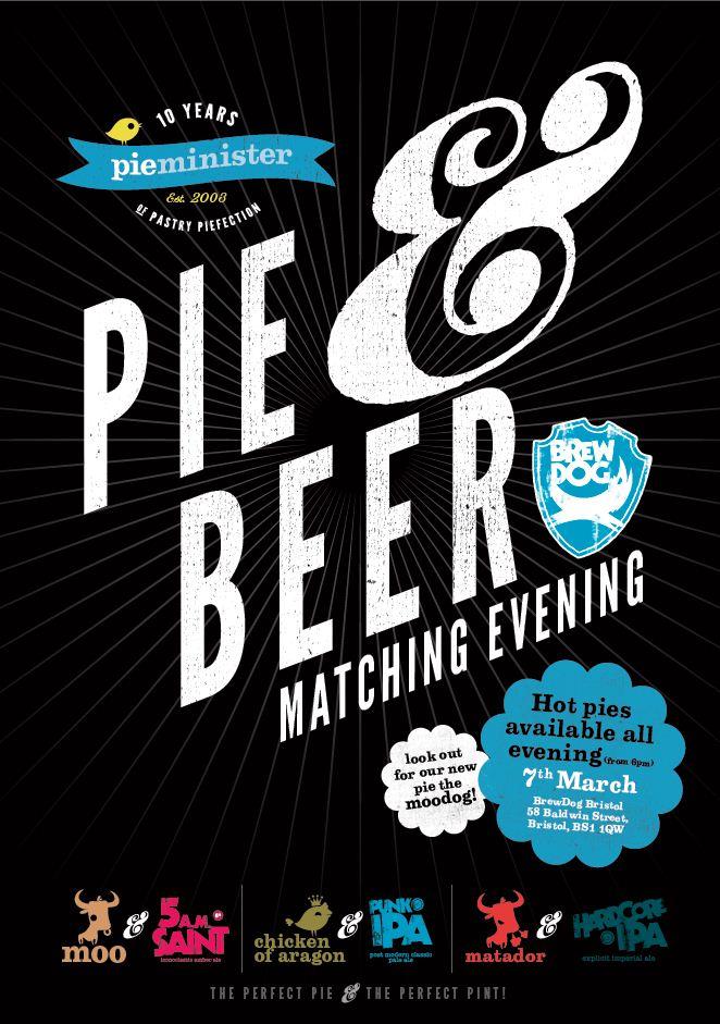pie  brewdog poster