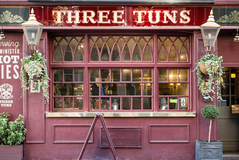 three tuns button