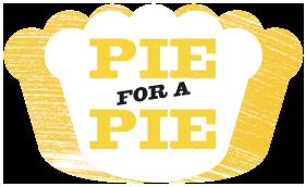 pie for a pie logo on black