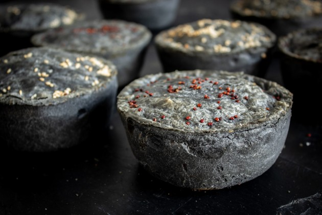 Black Pieday - charcoal pastry Pieminister