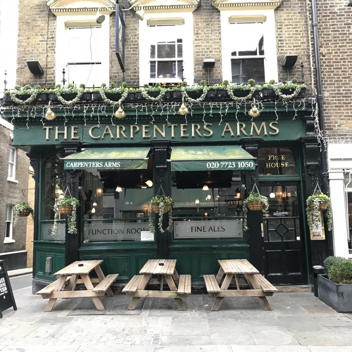 Carpenters Arms London - Pieminister pies