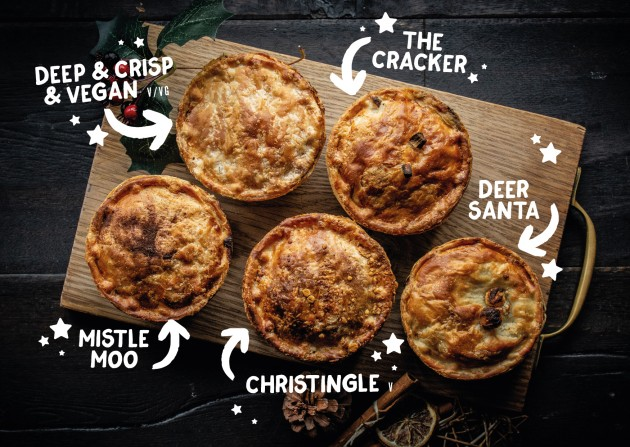 All festive Pieminister pies