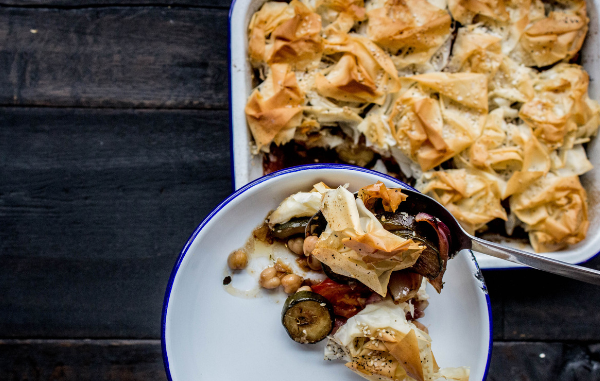 Courgette filo vegan pie recipe - Pieminister