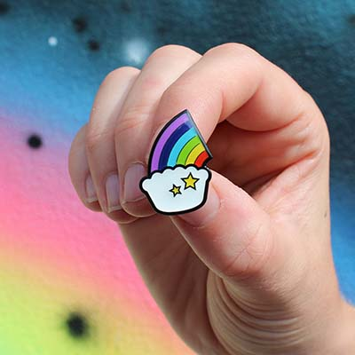 Pieminister Rainbow Pie Pin Badge