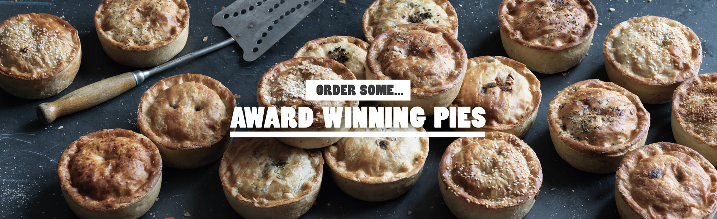 A Tray Filled With Award-Winning Pieminister Pies