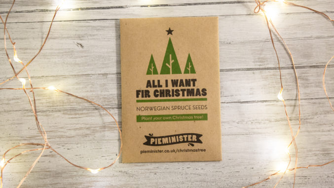 Pieminister christmas tree seeds