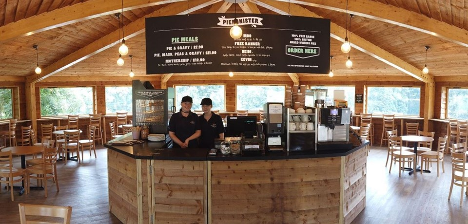 Pieminister lookout cafe at Woburn Safari Park